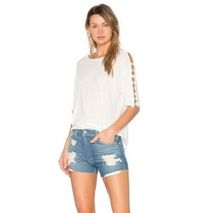 IRO Balkis Ring Cut-Out Tee White Size Large